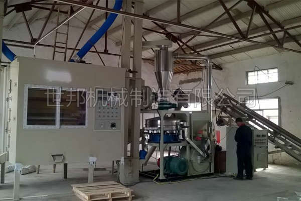 铝塑分离回收设备处理铝塑复合物不堵塞、卡机机